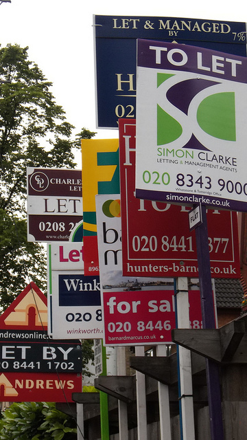 A few To Let signs